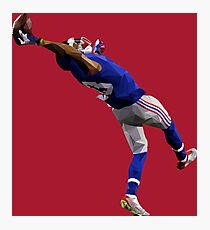 Odell Beckham Jr. Catch Low Poly Photographic Print