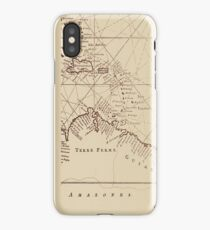 Uncharted Map Design iPhone Case