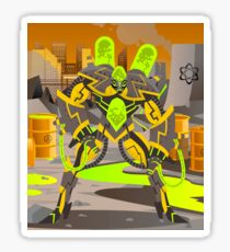 radioactive giant toxicrobot in power plant Sticker