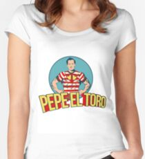 Pepe El Toro Invincible Pedro Infante Women's Fitted Scoop T-Shirt