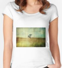 Lean on me Women's Fitted Scoop T-Shirt