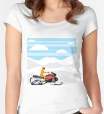 Snowmobile Women's Fitted Scoop T-Shirt