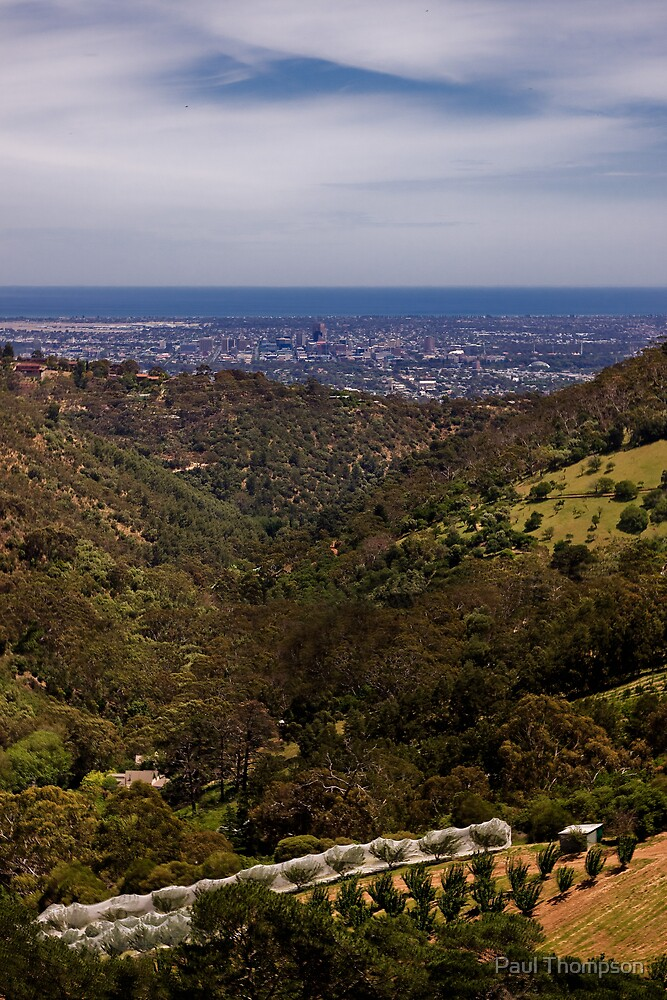 Adelaide from Norton Summit by Paul Thompson