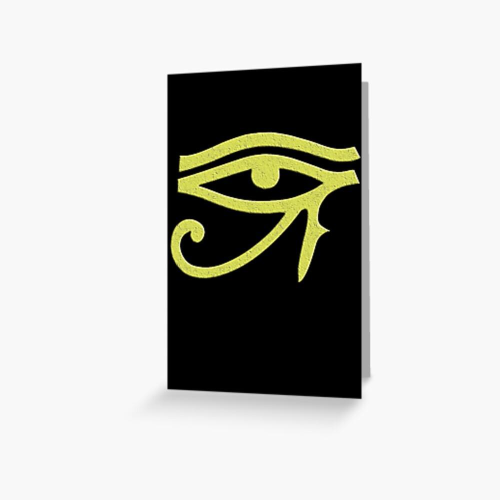 Auge von Ra Grußkarte