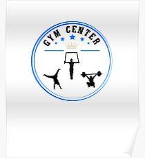 Gym sport center Design shirt Poster