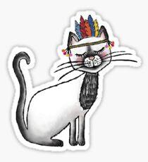 Indianer Cat  Sticker