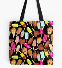 Aussie Ice Creams - Scatter - Black Tote Bag