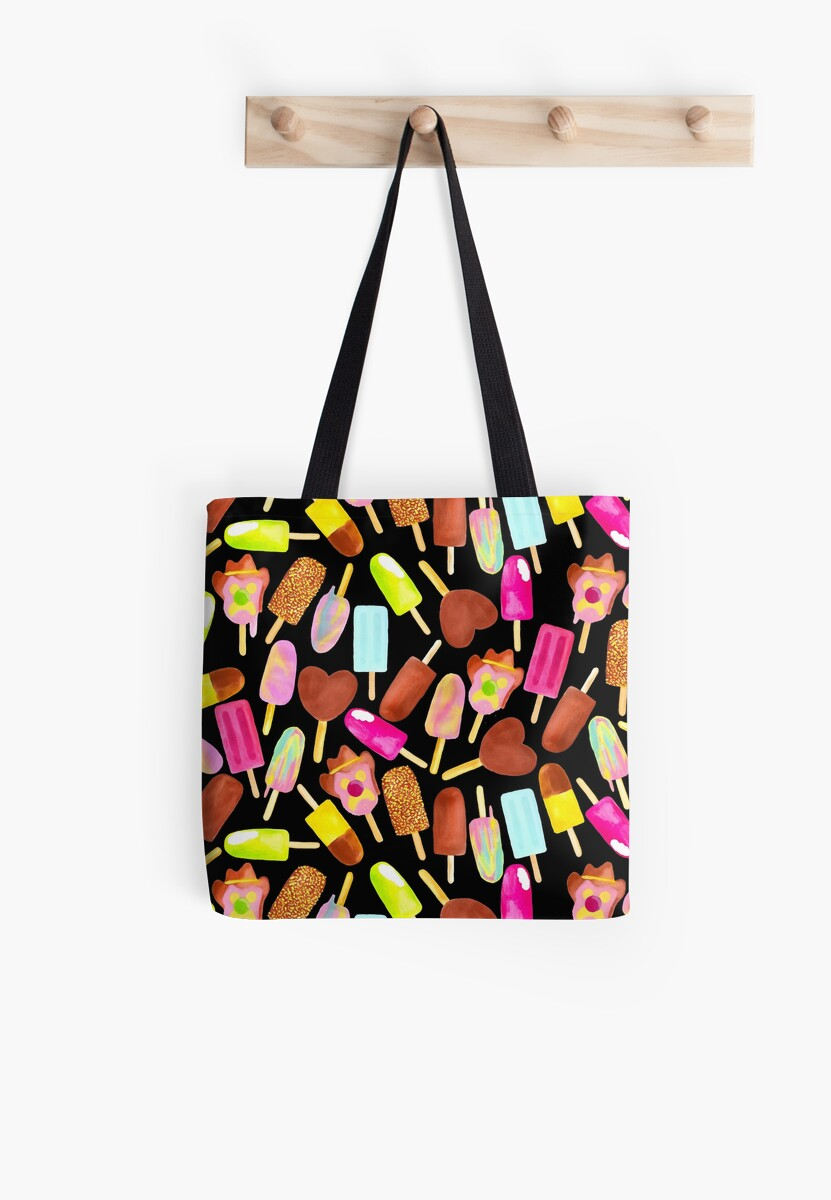 Aussie Ice Creams - Scatter - Black by makemerriness