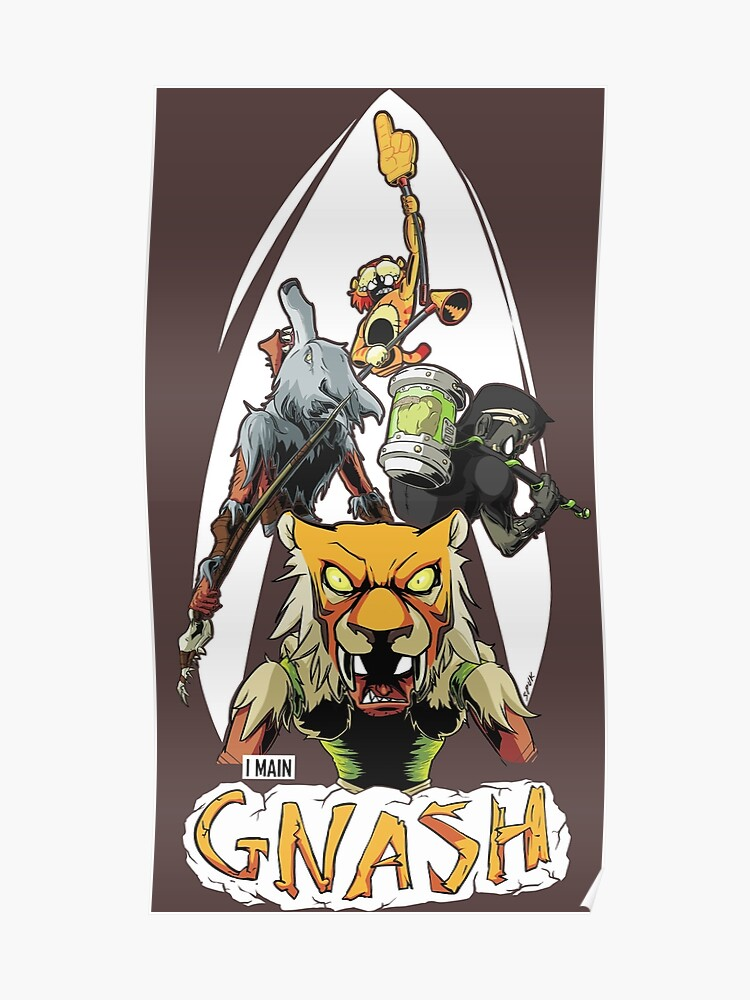 I Main Gnash - Brawlhalla | Poster