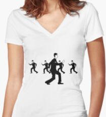 Talking Heads - Once in a lifetime Women's Fitted V-Neck T-Shirt