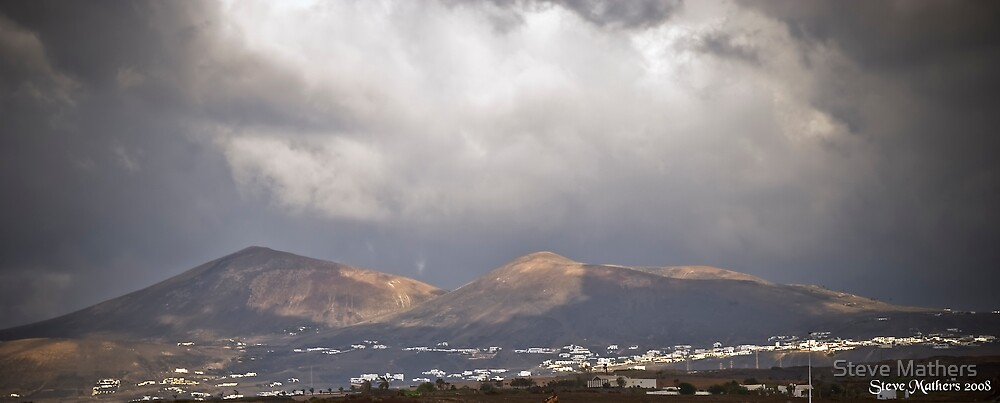 Clouds & Mountains, Lanzarote by Steve Mathers
