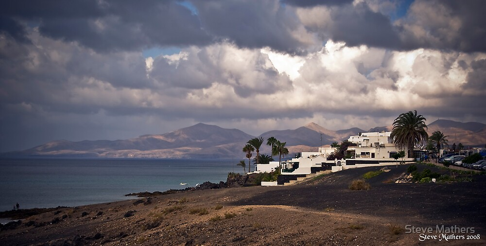 Cloudy Puerto del Carmen, Lanzarote by Steve Mathers