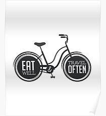 Eat Well & Travel Often // Wanderlust Poster