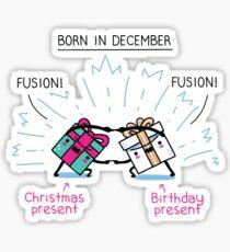 Born in December Sticker