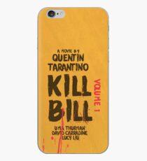 Kill Bill, Quentin Tarantino, movie poster, alternative, minimal version iPhone Case