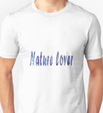 Nature Lover (blue-purple) Unisex T-Shirt