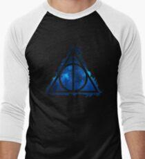 Galaxy hallows blue - wand, cloak, stone T-Shirt