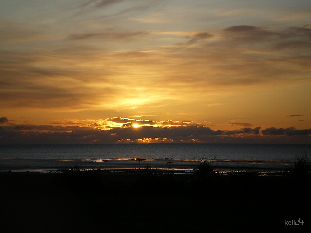 sunset at allonby by kell24