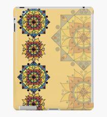 Yellow pattern with mandalas iPad Case/Skin