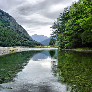 Fly Fishing Reflections HDR by gardenofbeeden
