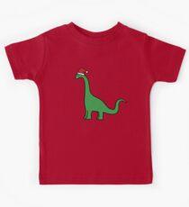 Weihnachten Brachiosaurus Kinder T-Shirt