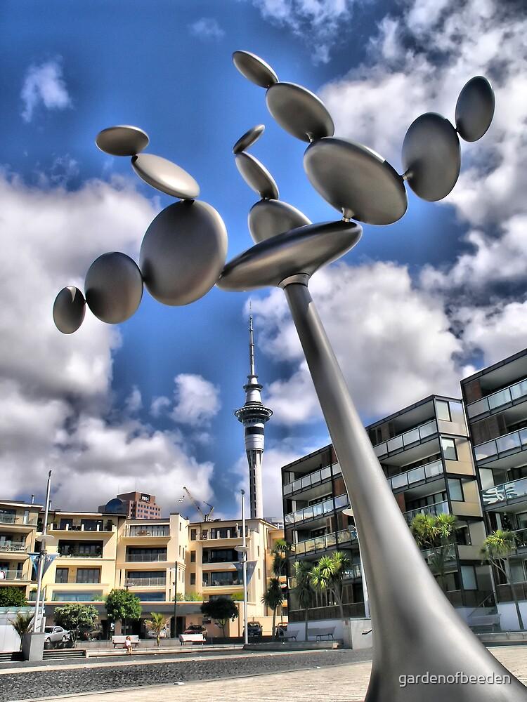 SKytower Sculpture Auckland HDR by gardenofbeeden