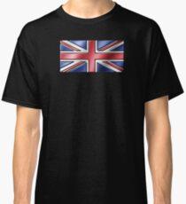 British Union Jack Flag 2 - UK - Metallic Classic T-Shirt