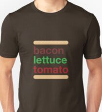 BLT - Bacon, lettue & tomato slogan T-Shirt