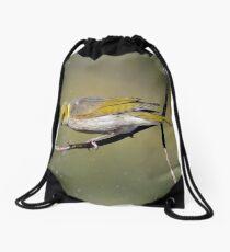 Bath time- Yellow Plumed Honeyeater Drawstring Bag