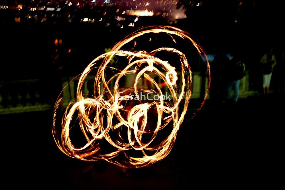 Sacre Coeur Fire Dancer, Paris by SarahCook