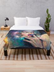 Black Hole in the Milky Way Throw Blanket