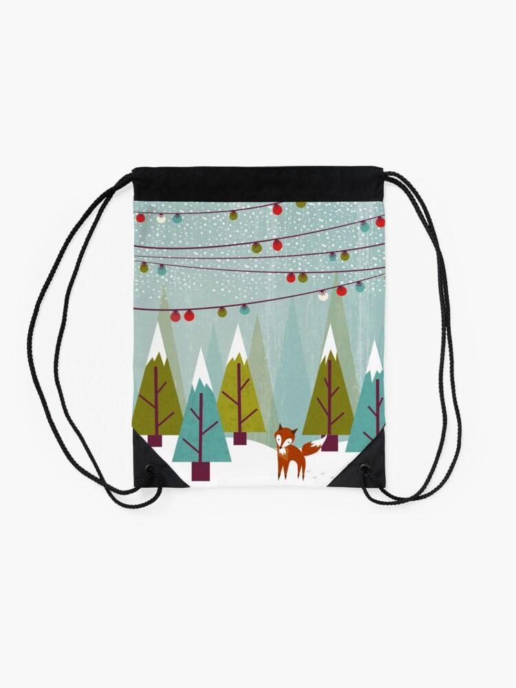 Alternate view of Winter Drawstring Bag