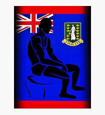 Custom Stencil Man (British Virgin Islands)  Photographic Print