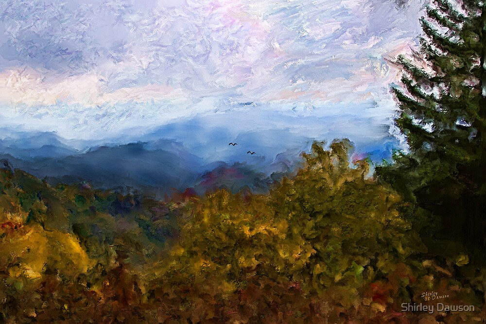 Misty Mountain by Shirley Dawson
