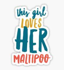 Maltipoo love Sticker