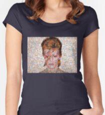 David Bowie Mosaic Art Women's Fitted Scoop T-Shirt