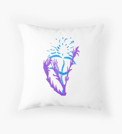 Blue & Purple Flowers Floor Pillow