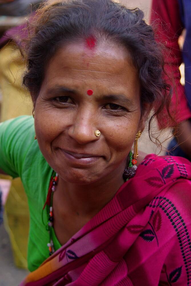 Woman after Puja - Hetauda, Nepal by AlliD