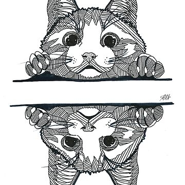 Geometric Cat by georgieartist