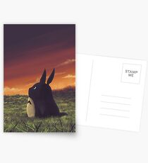 Cute Totoro anime Postcards