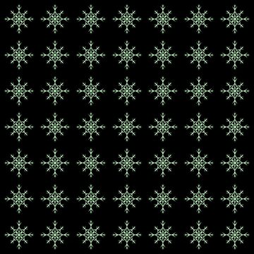 Christmas Pattern Series - Snowflake 2 Light Green by Ian2Danim
