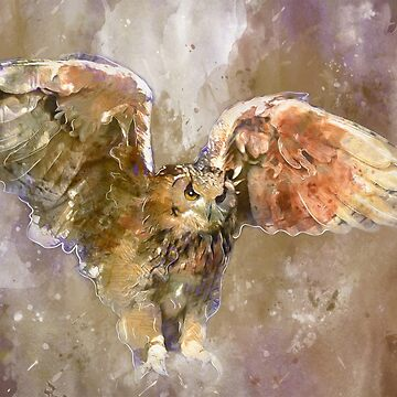 Eagle Watercolor Art by MNA-Art