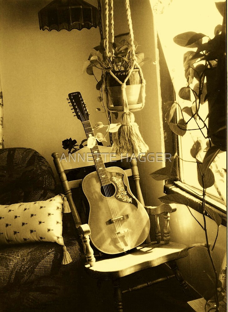 GUITAR - SEPIA by ANNETTE HAGGER