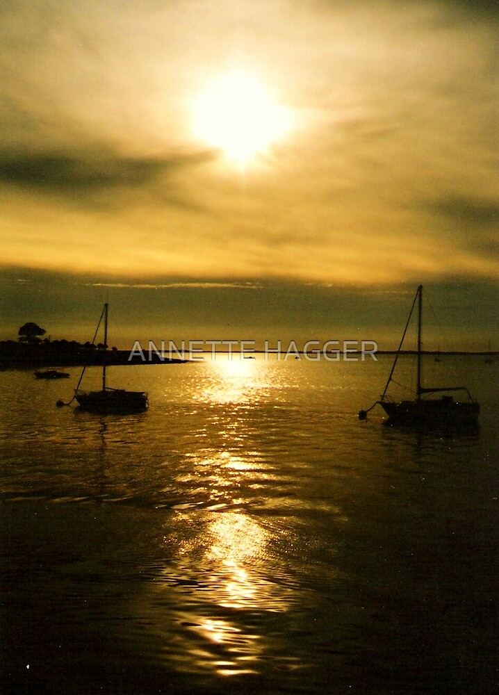 END OF THE DAY- SEPIA by ANNETTE HAGGER