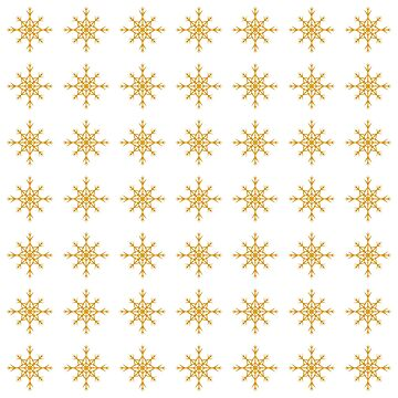 Christmas Pattern Series - Snowflake 2 Gold by Ian2Danim