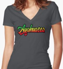 ayahuasca Women's Fitted V-Neck T-Shirt