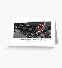 PAIN IS TEMPORARY Greeting Card