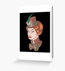 Chica steampunk Greeting Card