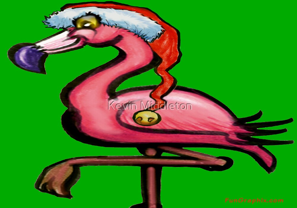 Flamingo Christmas by Kevin Middleton