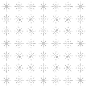 Christmas Pattern Series - Snowflake 2 Silver by Ian2Danim